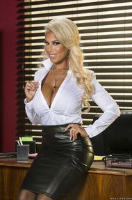 Busty MILF Bridgette Gets Nude In The Office - 00
