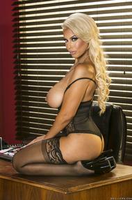 Busty MILF Bridgette Gets Nude In The Office - 06