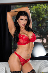 Adria Rae Showing Her Red Lingerie And More - 05