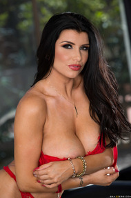 Adria Rae Showing Her Red Lingerie And More - 11