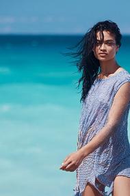 Shanina Shaik Topless Seaside - 00