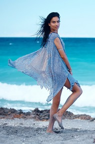 Shanina Shaik Topless Seaside - 01
