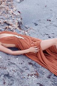 Shanina Shaik Topless Seaside - 04