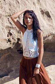Shanina Shaik Topless Seaside - 05
