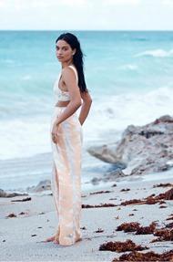 Shanina Shaik Topless Seaside - 07