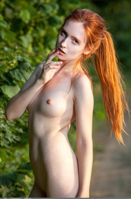 Redhead May In The Nature - 06
