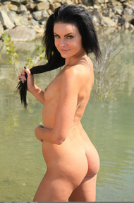 Brunet Doll By The Lake - 01