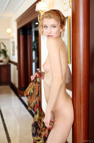 Skinny Blonde Beauty Mila Strips And Poses Nude - 09