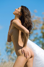 Brunette Teen Beauty Gaia Enjoys The Sunshine - 09