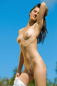 Brunette Teen Beauty Gaia Enjoys The Sunshine - 13