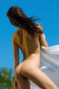 Brunette Teen Beauty Gaia Enjoys The Sunshine - 15