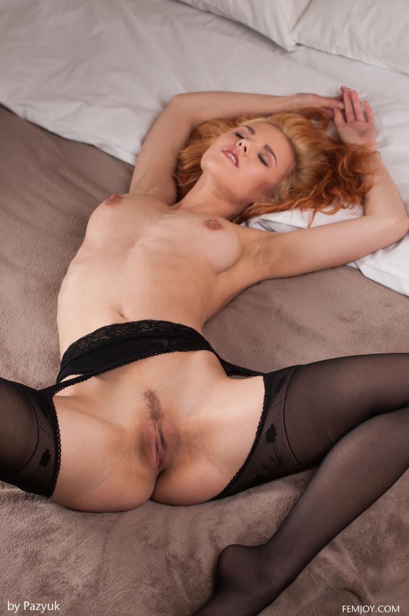 Rada In Sexy Black Stockings -
