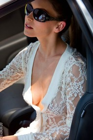 Amber Sym Nude Photos With Her Car - 00