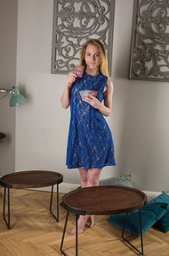 Gorgeous blonde Ramona loves to play cards - 00