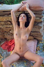 Sexy brunette Sultana loves getting naked outdoors - 11