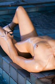 Georgia Jones dripping wet body - 07