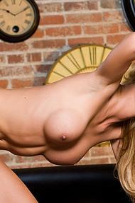 Lindsay Marie on black sofa - 11