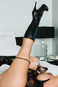Phoenix M in black boots - 05