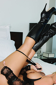 Phoenix M in black boots - 06