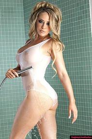 Kagney Linn Karter Under Shower, Wet Clothes - 08