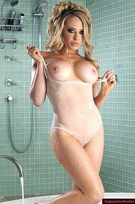 Kagney Linn Karter Under Shower, Wet Clothes - 12