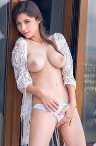 Mila Azul Dressed In Nothing But A Lacy Top - 00