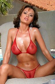 Crissy Moran in red fishnet - 01