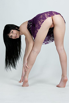 Milania In Purple Babydoll