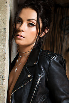 Alexandra Tyler In Leather Jacket