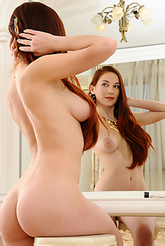 Busty Redhead Teen Eva