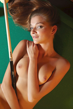 Belle Nude On The Pool Table