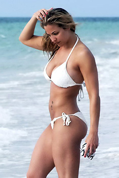 Gemma Atkinson On The Beach