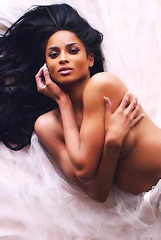 Ciara Topless In The Studio