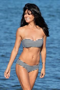Brooke Burke In Bikini On The Beach