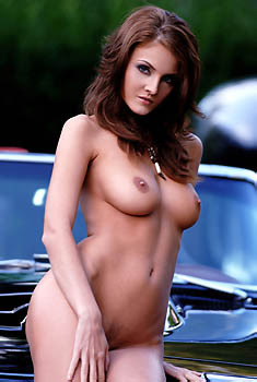 Ivette Blanche Nude On A Corvette