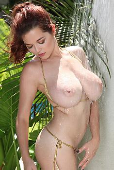 Tessa Fowler Gold Bikini Shower