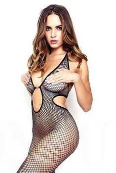 Sabine Jemeljanova In Sexy Fishnet