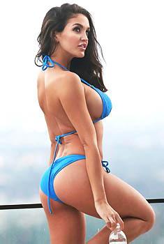 Jaclyn Swedberg In Sexy Blue Bikini
