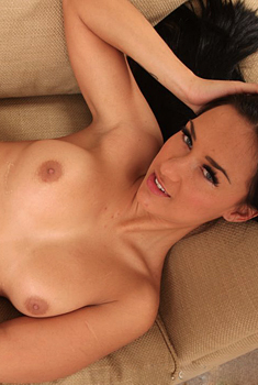 Victoria A Getting Topless On The Couch