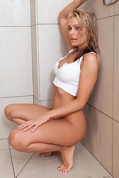 Natasha Marley In The Shower