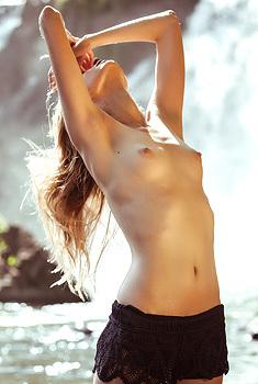 Lexa Shevchenko Gets Topless Outside
