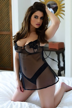 Charlotte Spinger Sexy Lingerie In The Bed