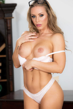 Busty Secretary Nicole Aniston Strips In The Office