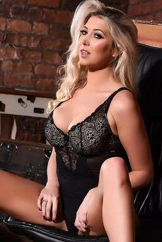 Lexi Looks Very Sexy In Black Bodysuit