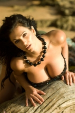 Denise Milani black net