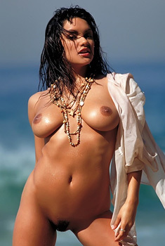 Monica Mendez At The Beach