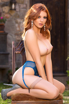 Busty Redhead Playmate Chandler South