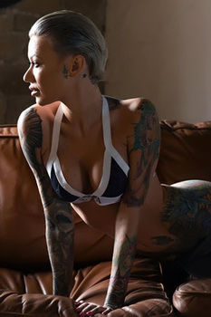 Busty Tattooed Short Haired Blonde