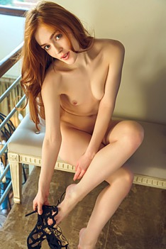 Jia Lissa As She Bends Over The Banisters Is A Thrill