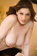 Kymberly white natural breasts and the large pink nipples